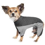 View Image 1 of Pet Life ACTIVE 'Chase Pacer' Performance Full Body Dog Warm Up - Charcoal Gray