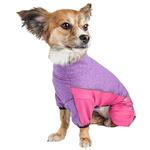 View Image 3 of Pet Life ACTIVE 'Chase Pacer' Performance Full Body Dog Warm Up - Pink and Purple