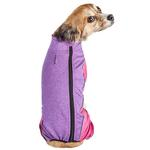 View Image 2 of Pet Life ACTIVE 'Chase Pacer' Performance Full Body Dog Warm Up - Pink and Purple