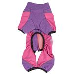 View Image 6 of Pet Life ACTIVE 'Chase Pacer' Performance Full Body Dog Warm Up - Pink and Purple
