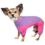 View Image 1 of Pet Life ACTIVE 'Chase Pacer' Performance Full Body Dog Warm Up - Pink and Purple