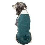 View Image 3 of Pet Life ACTIVE 'Chewitt Wagassy' Performance Long Sleeve Dog T-Shirt- Teal