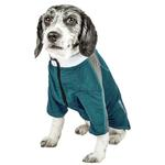View Image 2 of Pet Life ACTIVE 'Chewitt Wagassy' Performance Long Sleeve Dog T-Shirt- Teal