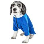 View Image 2 of Pet Life ACTIVE 'Chewitt Wagassy' Performance Long Sleeve Dog T-Shirt - Blue
