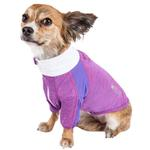 View Image 2 of Pet Life ACTIVE 'Chewitt Wagassy' Performance Long Sleeve Dog T-Shirt- Lavender