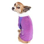 View Image 3 of Pet Life ACTIVE 'Chewitt Wagassy' Performance Long Sleeve Dog T-Shirt- Lavender