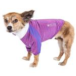 View Image 1 of Pet Life ACTIVE 'Chewitt Wagassy' Performance Long Sleeve Dog T-Shirt- Lavender