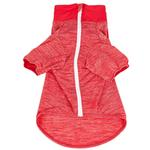 View Image 5 of Pet Life ACTIVE 'Chewitt Wagassy' Performance Long Sleeve Dog T-Shirt- Red