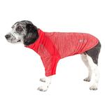 View Image 1 of Pet Life ACTIVE 'Chewitt Wagassy' Performance Long Sleeve Dog T-Shirt- Red