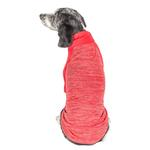 View Image 3 of Pet Life ACTIVE 'Chewitt Wagassy' Performance Long Sleeve Dog T-Shirt- Red