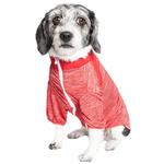 View Image 2 of Pet Life ACTIVE 'Chewitt Wagassy' Performance Long Sleeve Dog T-Shirt- Red