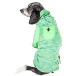 View Image 3 of Pet Life ACTIVE 'Downward Dog' Performance Full Body Warm-Up Dog Hoodie - Green