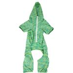 View Image 5 of Pet Life ACTIVE 'Downward Dog' Performance Full Body Warm-Up Dog Hoodie - Green