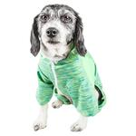 View Image 2 of Pet Life ACTIVE 'Downward Dog' Performance Full Body Warm-Up Dog Hoodie - Green
