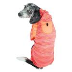 View Image 2 of Pet Life ACTIVE 'Downward Dog' Performance Full Body Warm-Up Dog Hoodie - Orange