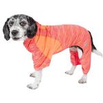 View Image 1 of Pet Life ACTIVE 'Downward Dog' Performance Full Body Warm-Up Dog Hoodie - Orange