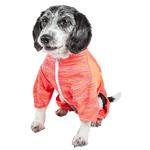View Image 3 of Pet Life ACTIVE 'Downward Dog' Performance Full Body Warm-Up Dog Hoodie - Orange
