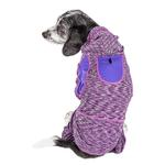 View Image 2 of Pet Life ACTIVE 'Downward Dog' Performance Full Body Warm-Up Dog Hoodie - Purple