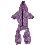 View Image 5 of Pet Life ACTIVE 'Downward Dog' Performance Full Body Warm-Up Dog Hoodie - Purple