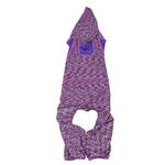 View Image 4 of Pet Life ACTIVE 'Downward Dog' Performance Full Body Warm-Up Dog Hoodie - Purple