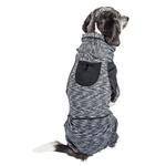 View Image 2 of Pet Life ACTIVE 'Downward Dog' Performance Full Body Warm-Up Dog Hoodie - Black