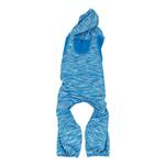 View Image 4 of Pet Life ACTIVE 'Downward Dog' Performance Full Body Warm-Up Dog Hoodie - Blue