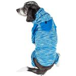 View Image 2 of Pet Life ACTIVE 'Downward Dog' Performance Full Body Warm-Up Dog Hoodie - Blue