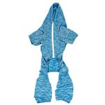View Image 5 of Pet Life ACTIVE 'Downward Dog' Performance Full Body Warm-Up Dog Hoodie - Blue