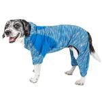 View Image 1 of Pet Life ACTIVE 'Downward Dog' Performance Full Body Warm-Up Dog Hoodie - Blue