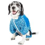 View Image 3 of Pet Life ACTIVE 'Downward Dog' Performance Full Body Warm-Up Dog Hoodie - Blue