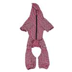 View Image 5 of Pet Life ACTIVE 'Downward Dog' Performance Full Body Warm-Up Dog Hoodie - Burgundy