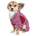 View Image 3 of Pet Life ACTIVE 'Downward Dog' Performance Full Body Warm-Up Dog Hoodie - Burgundy