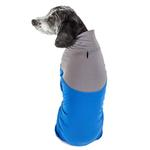 View Image 3 of Pet Life ACTIVE 'Embarker' Performance Full-Body Dog Warm Up Suit - Blue and Grey