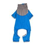 View Image 4 of Pet Life ACTIVE 'Embarker' Performance Full-Body Dog Warm Up Suit - Blue and Grey