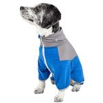 View Image 2 of Pet Life ACTIVE 'Embarker' Performance Full-Body Dog Warm Up Suit - Blue and Grey