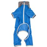 View Image 5 of Pet Life ACTIVE 'Embarker' Performance Full-Body Dog Warm Up Suit - Blue and Grey