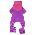 View Image 4 of Pet Life ACTIVE 'Embarker' Performance Full-Body Dog Warm Up Suit - Lavender and Pink
