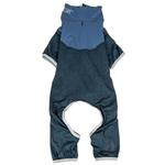 View Image 4 of Pet Life ACTIVE 'Embarker' Performance Full-Body Dog Warm Up Suit - Teal and Blue