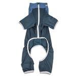View Image 5 of Pet Life ACTIVE 'Embarker' Performance Full-Body Dog Warm Up Suit - Teal and Blue