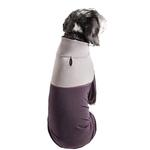 View Image 3 of Pet Life ACTIVE 'Embarker' Performance Full-Body Dog Warm Up Suit - Raisin and Grey
