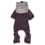 View Image 4 of Pet Life ACTIVE 'Embarker' Performance Full-Body Dog Warm Up Suit - Raisin and Grey