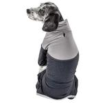 View Image 3 of Pet Life ACTIVE 'Embarker' Performance Full-Body Dog Warm Up Suit - Charcoal and Grey