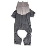 View Image 4 of Pet Life ACTIVE 'Embarker' Performance Full-Body Dog Warm Up Suit - Charcoal and Grey