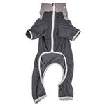 View Image 5 of Pet Life ACTIVE 'Embarker' Performance Full-Body Dog Warm Up Suit - Charcoal and Grey