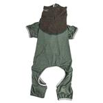 View Image 4 of Pet Life ACTIVE 'Embarker' Performance Full-Body Dog Warm Up Suit - Hunter Green