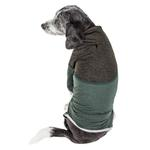View Image 3 of Pet Life ACTIVE 'Embarker' Performance Full-Body Dog Warm Up Suit - Hunter Green