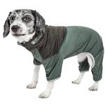 View Image 1 of Pet Life ACTIVE 'Embarker' Performance Full-Body Dog Warm Up Suit - Hunter Green