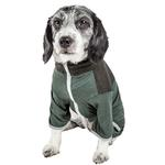 View Image 2 of Pet Life ACTIVE 'Embarker' Performance Full-Body Dog Warm Up Suit - Hunter Green