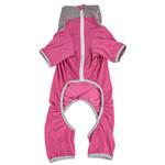 View Image 5 of Pet Life ACTIVE 'Embarker' Performance Full-Body Dog Warm Up Suit - Pink and Gray