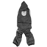 View Image 4 of Pet Life ACTIVE 'Fur-Breeze' Performance Full Body Warm-Up Dog Hoodie - Black and Gray